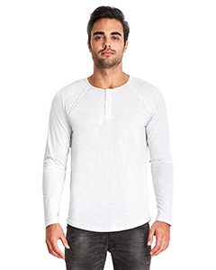 6072 Next Level Men's Triblend Long-Sleeve Henley