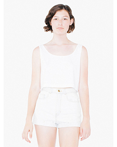 ABB381W American Apparel Ladies' Poly-Cotton Loose Crop Tank Top