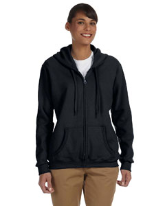 G186FL Gildan Ladies' Heavy Blend™ Ladies' 8 oz., 50/50 Full-Zip Hood