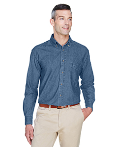 M550 Harriton Men's 6.5 oz. Long-Sleeve Denim Shirt