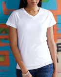 1507 Sublivie Ladies' V-Neck Sublimation T-Shirt