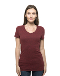 202B Threadfast Apparel Ladies' Triblend Short-Sleeve V-Neck T-Shirt