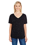 203FV Threadfast Apparel Ladies' Triblend Fleck Short-Sleeve V-Neck T-Shirt