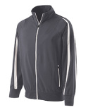 229242 Holloway Youth Polyester Full Zip Determination Jacket