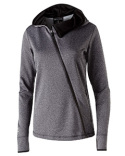 229360 Holloway Ladies' Polyester Fleece Full Zip Hooded Artillery Angled Jacket