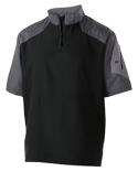 229545 Holloway Unisex Ultra-Lightweight Aero-Tec™ Raider Short-Sleeve Warm-Up Pullover