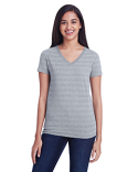 252RV Threadfast Apparel Ladies' Invisible Stripe V-Neck T-Shirt
