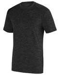 2950 Augusta Sportswear Adult Intensify Black Heather Short-Sleeve Training T-Shirt