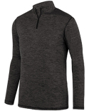2955 Augusta Sportswear Adult Intensify Black Heather Quarter-Zip Pullover