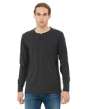 3150 Bella + Canvas Men's Jersey Long-Sleeve Henley