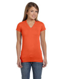 3607 LAT Ladies' Junior Fit V-Neck Fine Jersey T-Shirt