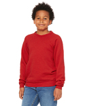 3901Y Bella + Canvas Youth Sponge Fleece Raglan Sweatshirt