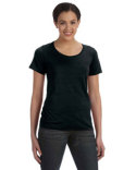 391A Anvil Ladies' Featherweight Scoop T-Shirt