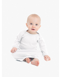 4083W American Apparel Infant Baby Rib Long Sleeve Gown T-Shirt