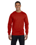 5286 Hanes Men's 5.2 oz. ComfortSoft® Cotton Long-Sleeve T-Shirt