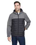 5324 Dri Duck Men's Pinnacle Puffer Body Softshell Hooded Jacket