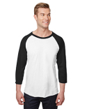 560RR Jerzees Adult  5.2 oz., Premium Blend Ring-Spun Raglan Baseball T-Shirt