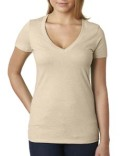 6640 Next Level Ladies' CVC Deep V