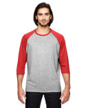6755 Anvil Adult Triblend 3/4-Sleeve Raglan T-Shirt