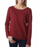 6931 Next Level Ladies' French Terry Long-Sleeve Scoop