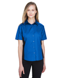 77042 North End Ladies' Fuse Colorblock Twill Shirt