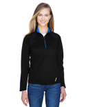 78187 North End Ladies' Radar Quarter-Zip Performance Long-Sleeve Top