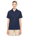 78222 Core 365 Ladies' Motive Performance Piqué Polo with Tipped Collar