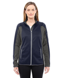 78230 North End Ladies' Motion Interactive Colorblock Performance Fleece Jacket