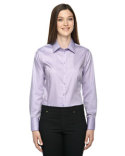 78673 Ash City - North End Sport Blue Ladies' Boulevard Wrinkle-Free Two-Ply 80's Cotton Dobby Taped Shirt with Oxford Twill