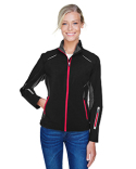 78678 North End Ladies' Pursuit Three-Layer Light Bonded Hybrid Soft Shell Jacket with Laser Perforation