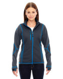 78681 North End Ladies' Pulse Textured Bonded Fleece Jacket with Print