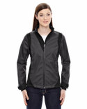 78686 Ash City - North End Sport Blue Ladies' Commute Three-Layer Light Bonded Two-Tone Soft Shell Jacket with Heat Reflect Technology