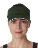 8113 UltraClub Adult Classic Cut Brushed Cotton Twill Sandwich Visor