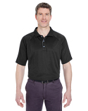 8409 UltraClub Adult Cool & Dry Sport Shoulder Block Polo