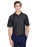 8413 UltraClub Men's Cool & Dry Elite Tonal Stripe Performance Polo