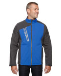 88176 North End Men's Terrain Colorblock Soft Shell with Embossed Print