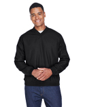 8926 UltraClub Adult Long-Sleeve Microfiber Crossover V-Neck Wind Shirt