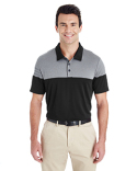 A213 adidas Golf Men's 3-Stripes Heather Block Polo