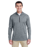 A284 adidas Golf Men's 3-Stripes Heather Quarter-Zip