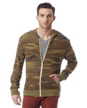 AA1970P Alternative Men's Eco-Jersey™ Triblend Long-Sleeve Printed Full Zip Hoodie