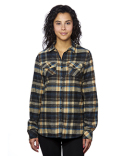 B5210 Burnside Ladies' Plaid Boyfriend Flannel