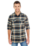 B8210 Burnside Mens Plaid Flannel Shirt