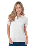 BA1050 Bayside Junior's 6.2 oz., 100% Cotton V-Neck Polo