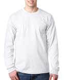 BA8100 Bayside Adult 6.1 oz., 100% Cotton Long Sleeve Pocket T-Shirt