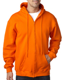 BA900 Bayside Adult  9.5oz., 80% cotton/20% polyester Full-Zip Hooded Sweatshirt
