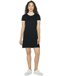 BB3274W American Apparel Ladies' Poly-Cotton Ringer T-Shirt Dress