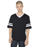 BB4481W American Apparel Unisex Poly-Cotton V-Neck Football T-Shirt