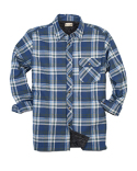 BP7002T Backpacker Men's Tall Flannel Shirt Jacket with Quilt Lining