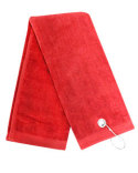 C1624TG Carmel Towel Company Ultra Plush Trifold Golf Towel with Grommet