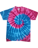 CD1180B Tie-Dye Youth 5.4 oz., 100% Cotton Islands Tie-Dyed T-Shirt